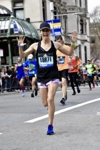 Kristin Partenza is training for this spring's Boston Marathon.