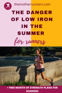 signs of low iron in runners
