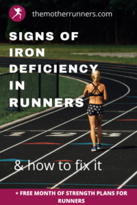 signs of iron deficiency in female runners