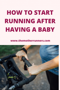 How to start running after having a baby