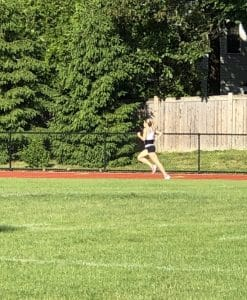 Sarah Brown on the track
