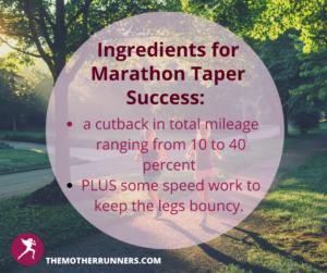marathon taper tips