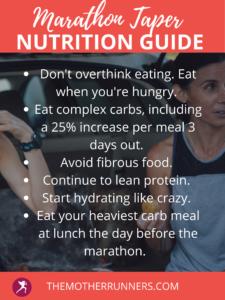 marathon taper nutrition guide
