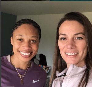 Celeste Goodson with Olympian Allyson Felix