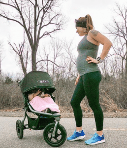 Laura enjoys sharing her love of running with her daughter.