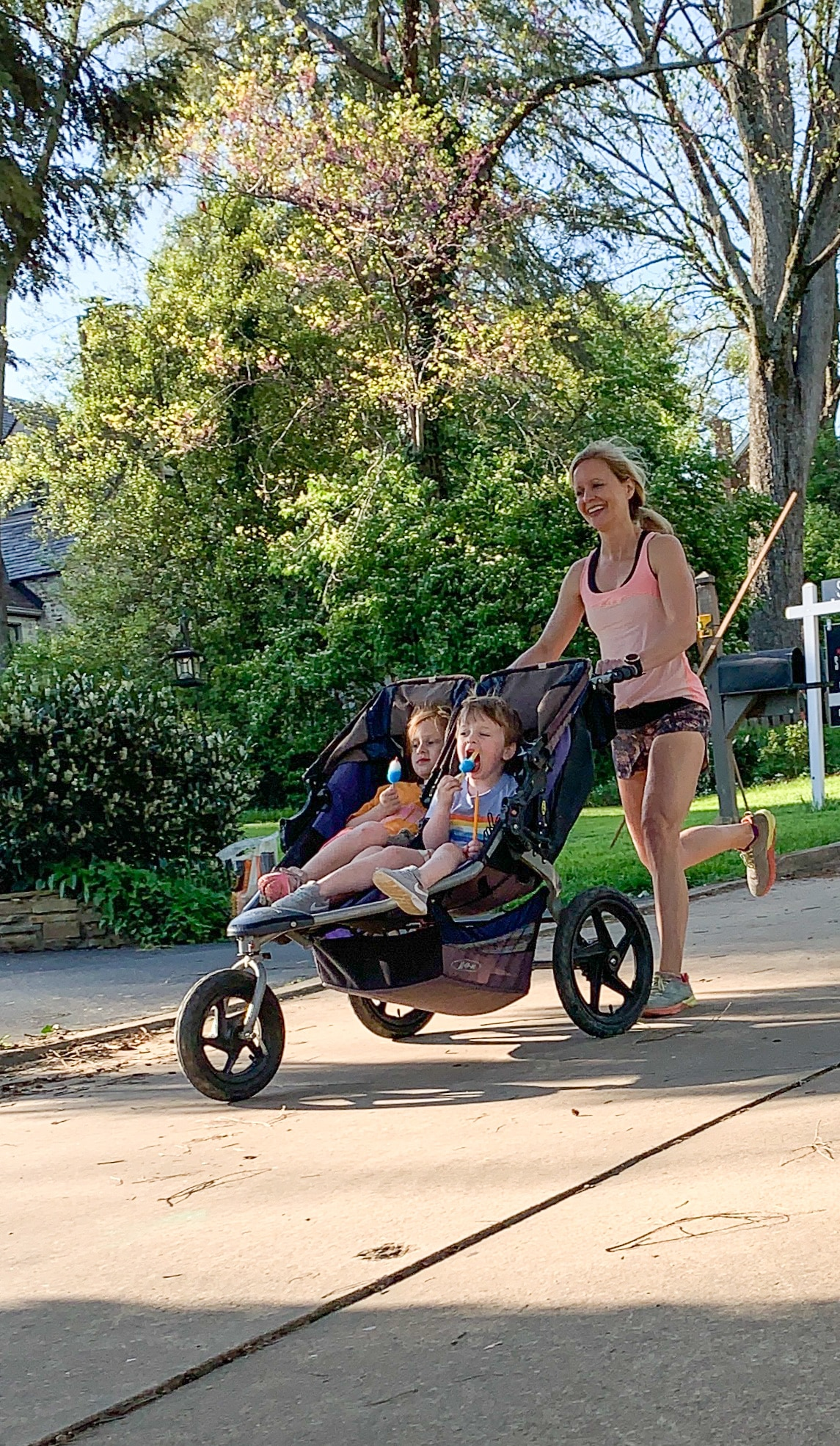 Train for a race with a stroller