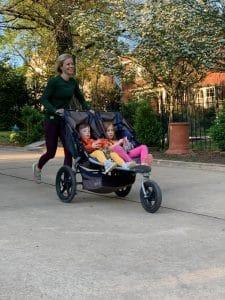 Stroller running 101: pack snacks!