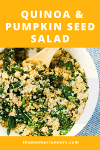 Post-run quinoa and pumpkin seed salad