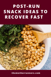 Post-run snack ideas to recover fast