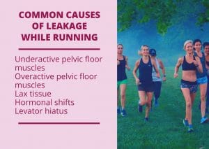 Common causes for leaking while running