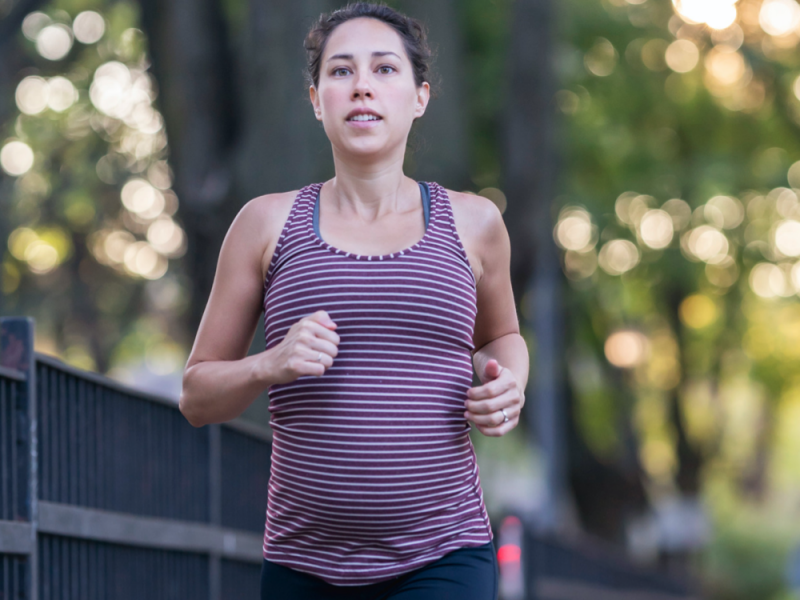 benefits of running while pregnant