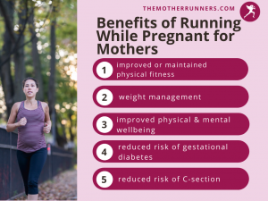 benefits for running for pregnant women