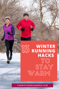 Running with a friend is a great way to stay motivated with running in the winter.