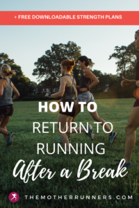 How to return to running after a break?