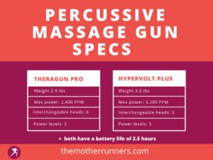 massage gun specs